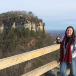 Norm visiting Pilot Mountain, NC with M.S.N. student Tara Lons.
