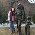 M.S.N. student Tara with Norm visiting Andy and Opie in Mayberry.