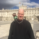 Norm at the Palacio Real (Royal Palace) in Madrid. Traveling with 49er Steve  from the Graduate Certificate in Teaching, Math Secondary Education program
