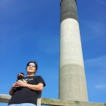 Norm & Vilma at Oak Island Lighthouse. Vilma is in the Special Education – Adapted Curriculum Master's program
