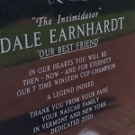 Norm visited Kannapolis, NC recently to spend time at the Dale Earnhardt memorial with one of our distance education students