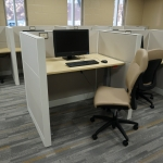 The Testing center has two accessible desks that can be adjusted for students